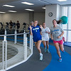 Islander Wommen Tennis Team do their regular tranning in Dugan Welness Center Track.