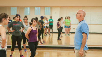 Professor Paul Bystedt during his self-defense course in the Dugan Wellness Center.