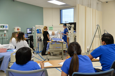 Nursing Students and instructor during a real situation simulator.