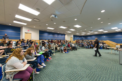 Javier Villarreal speaks to local area High School students during the Author's Day event.  More photos: https://flic.kr/s/aHskt2hX4R