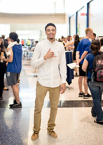 """DeRavian Stenson, during his final year presentation Exercise is Medicine in Island Hall- his topic was Exercise Benefits for Drug Additction. Biggest accomplishment in your senior year at TAMU-CC? """"Surviving Dr. Melrose Class!"""" https://flic.kr/s/aHsk7jZDXm"""