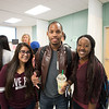 Jaime Peres(left) Emmanuel Ekop and Amy Jackson at the CONHS meet and greet.