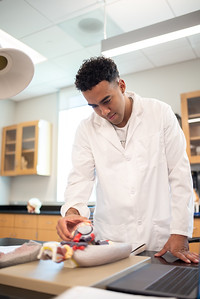 Pre-Nursing student Joshua Auzenne.