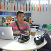 Jupiel Rabanzo works on his nursing assignments in the University Center.