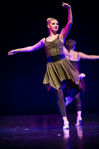 """""""Silence in the Forest,"""" choreographed by Jilissa Cotten, was performed by Ballet II in the fall 2018 Island Dance Demo."""