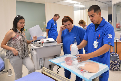 Eline nursing students test their skills during check-offs