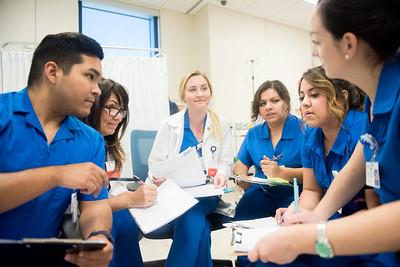 James Aceves (left) Madison Fluty, Amber Alvarez, Amanda Reyna, and Margaret Abalos