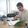 Student J Refugio Bahena studies mechanism mobility.