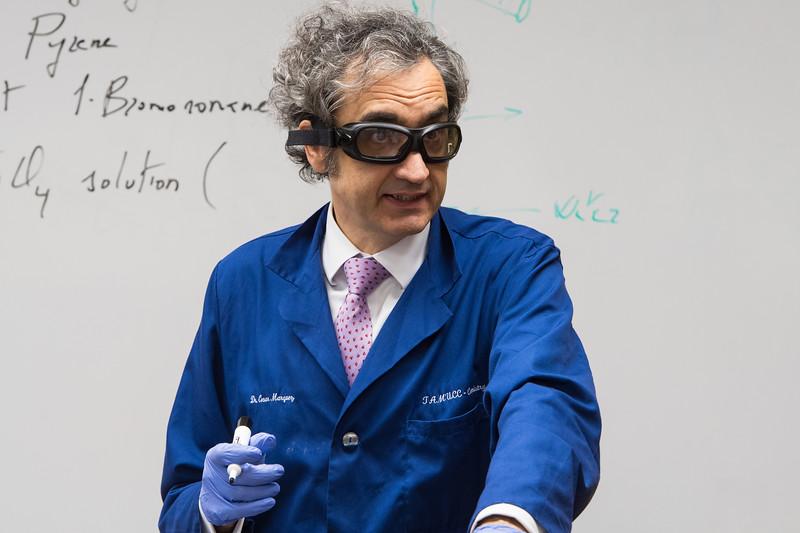 Dr. Cesar Marquez  teaches Organic Chemistry II.