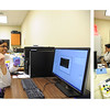 Students Simon Vera(right) and Selesha Subnaik do their summer undergraduate research in Chemistry lab.