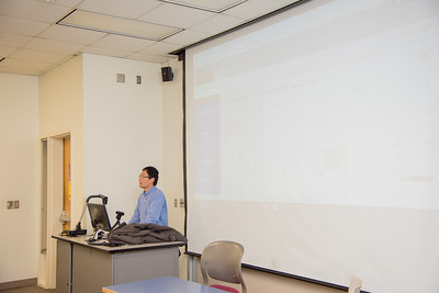 Dr. Lei Jin goes over the schedule for his Applied Probability and Statistics class.