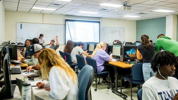Students study mathematic in Developmental Mathematics class