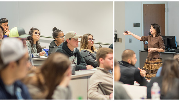 Dr. Katherine Smith explains the process of conducting marketing research during her Principles of Marketing lecture.