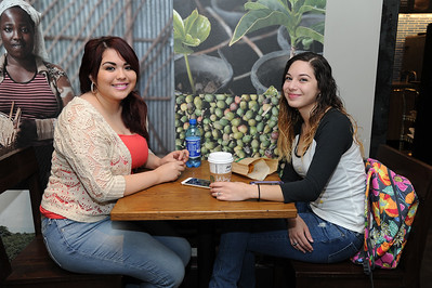 Students Veronica Salar and Stephanie Rodriguez talk about their student life at Tamucc in Starbuck.