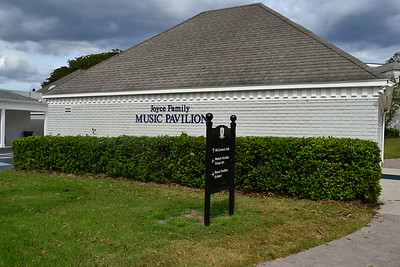 New signage on the Joyce Family Music Pavillion and directional signage.