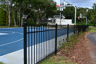 A gate was installed around the Downing Sport Court.