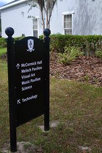New signage was installed on both campuses.
