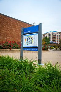 Campus map located on east side of Welcome Center