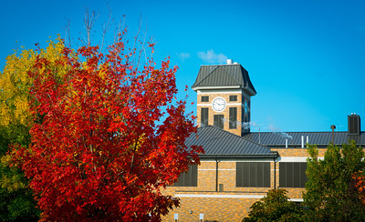Power plant image in fall