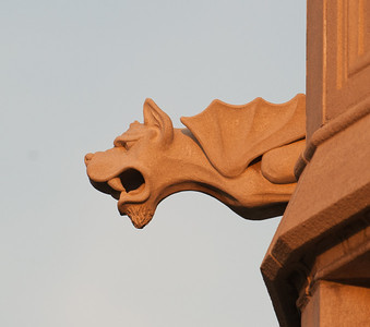 Gargoyles on the south side of the University Hall building
