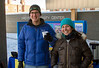 Michael Hunsberger and Morgan Mosher at the hot chocolate stand