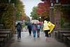 Rainy day on campus