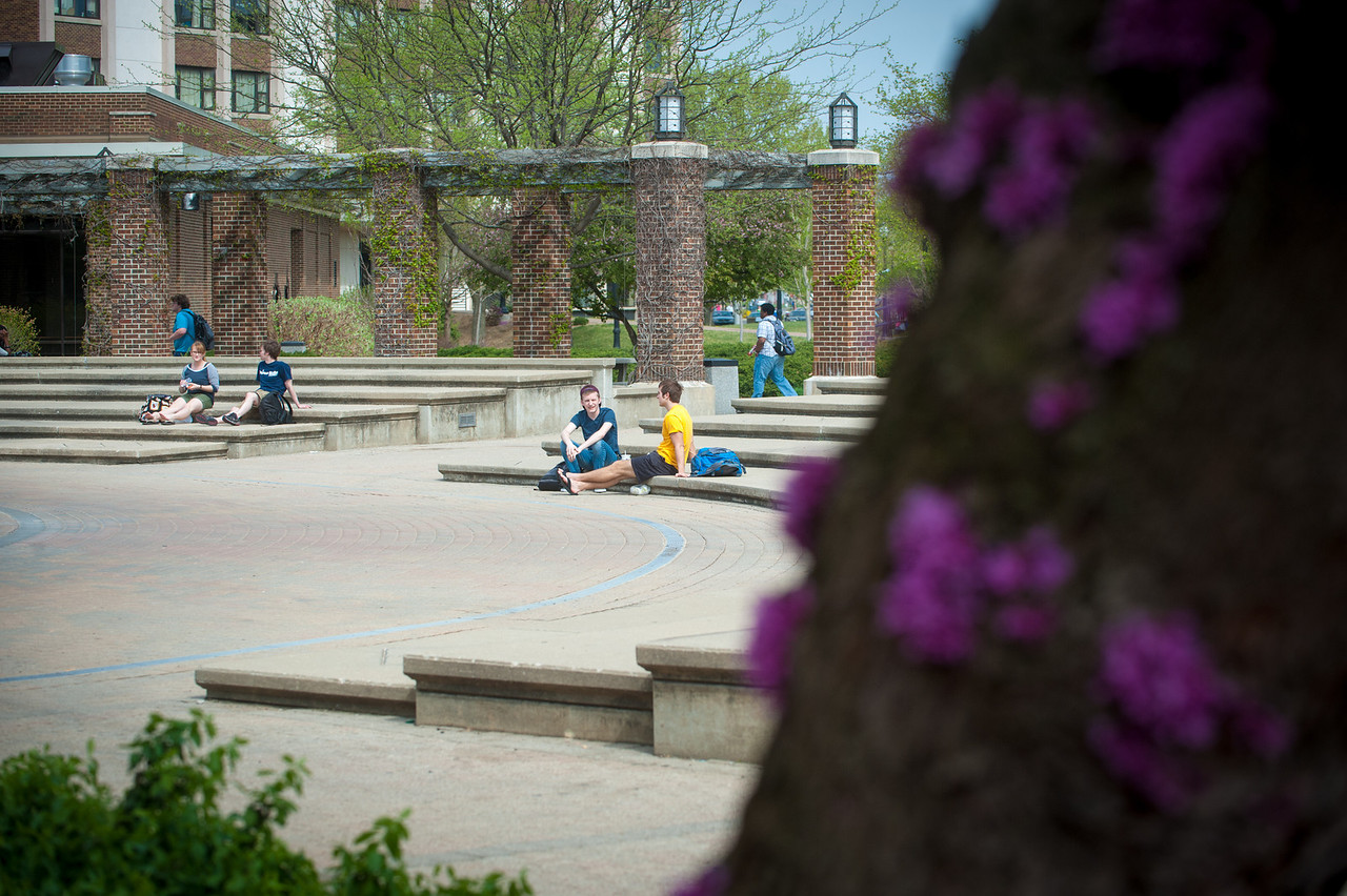Spring photographs of campus in 2012