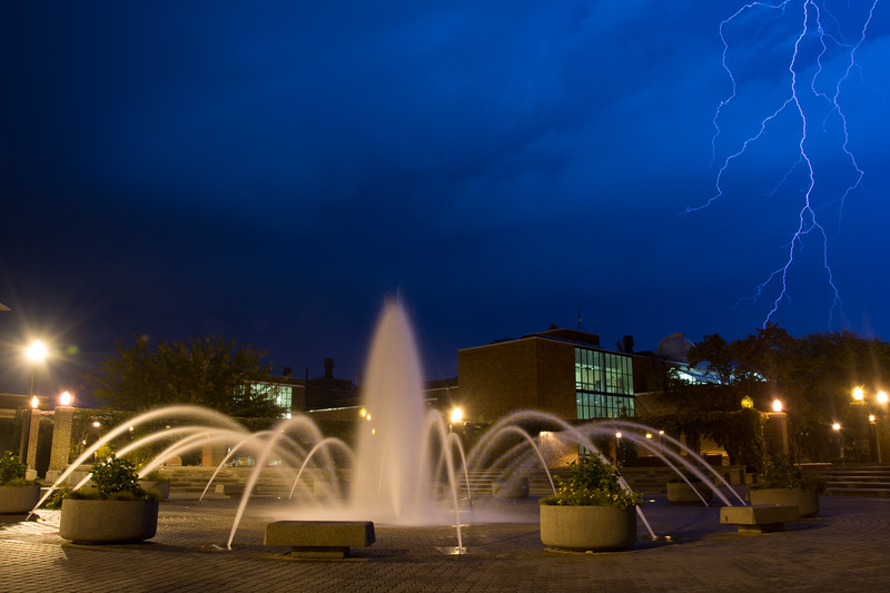 Lighting over campus