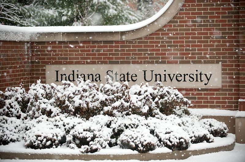 Oakley plaza in heavy snow
