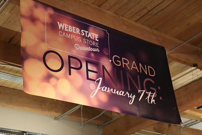 Weber State Campus Store Downtown Grand opening, 1/7/14