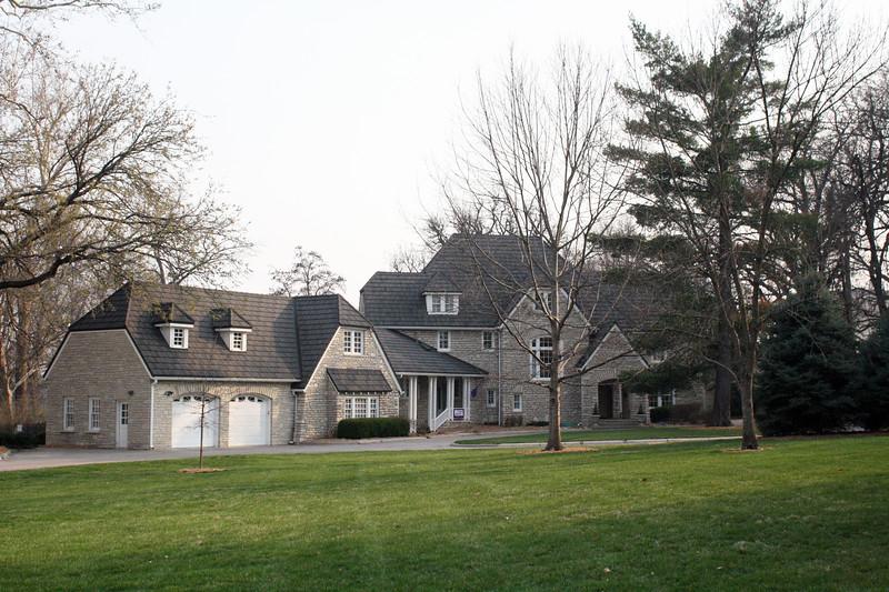 The President's Residence on the Kansas State campus on April 5, 2019. (Dene Dryden | Collegian Media Group)