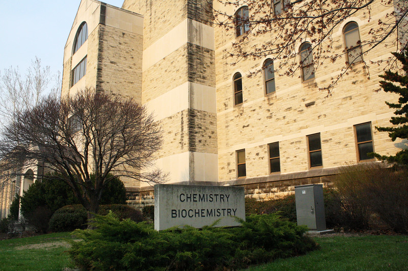 The Chemistry/Biochemistry Hall on the Kansas State campus on April 5, 2019. (Dene Dryden | Collegian Media Group)
