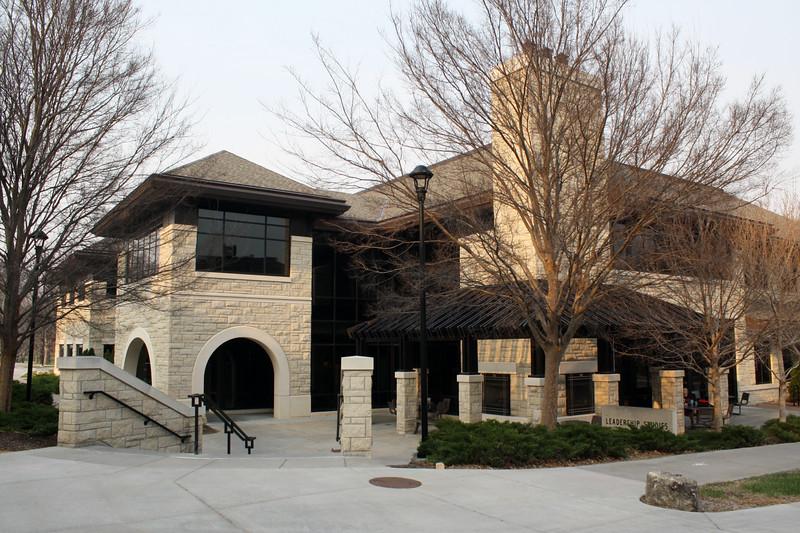 The Leadership Studies Building on the Kansas State campus on April 5, 2019. (Dene Dryden | Collegian Media Group)