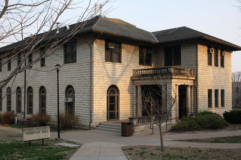 Thompson Hall on the Kansas State campus on April 5, 2019. (Dene Dryden | Collegian Media Group)