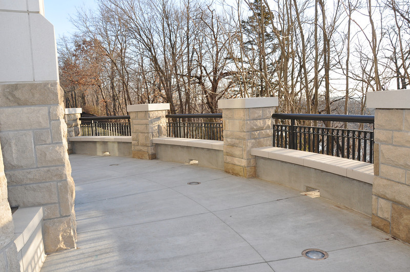 Balcony on first floor over looking Missouri River