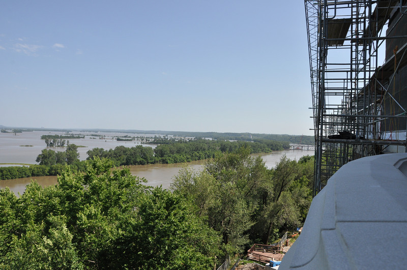 View of Flood waters from East balcony