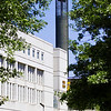 Science Library building with the Carillon under renovation.<br /> Photographer: Paul Miller