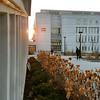 Sunrise over Science Library