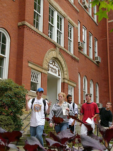 campus shot in front of old main