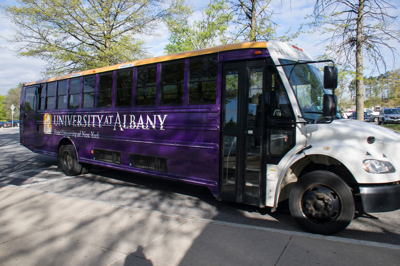 Picture of the UAlbany Shuttle Bus