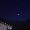 Crescent moon over Allen Cottage