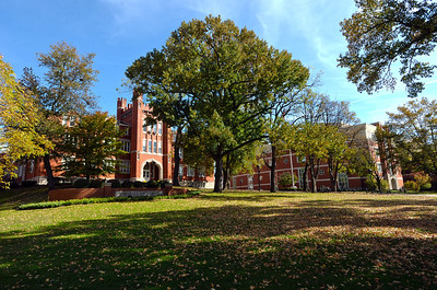 Old Main and Drinko Library