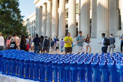 refillable water bottles, Angel Hall, students,