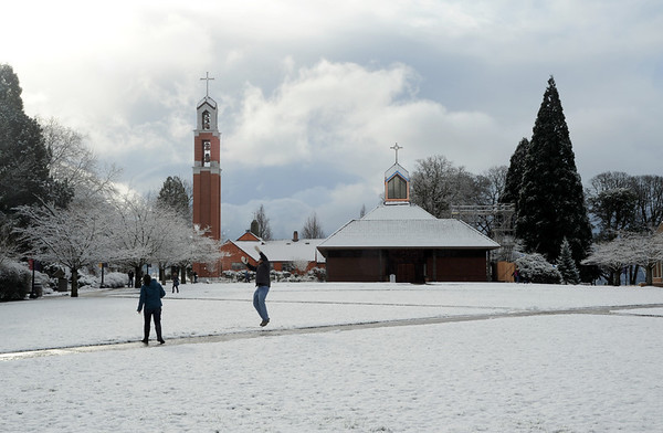 Campus scenes for Officers