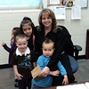 Tammy Flores, the Secretary at Mary Jo Sheppard Elementary, recieved a friendly visit from some of the school's Pre-K students.