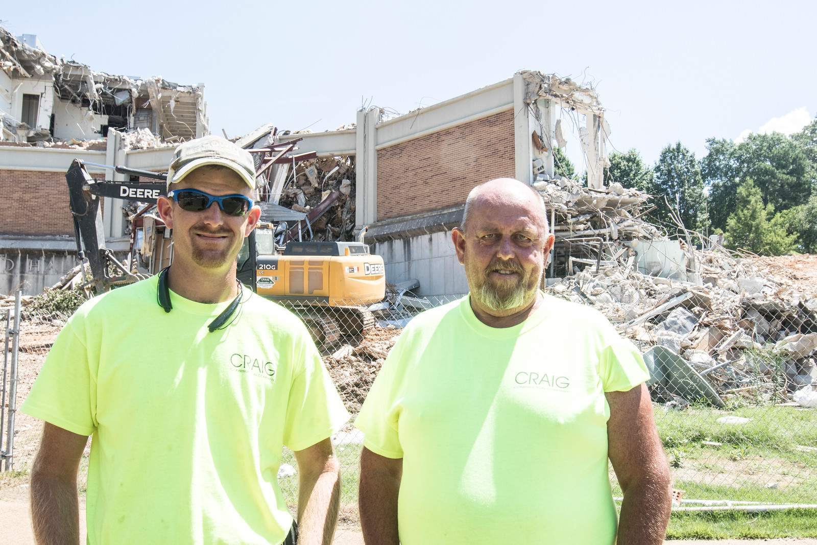 Ray and Mike Phillips, Father and Son, operators of excavators