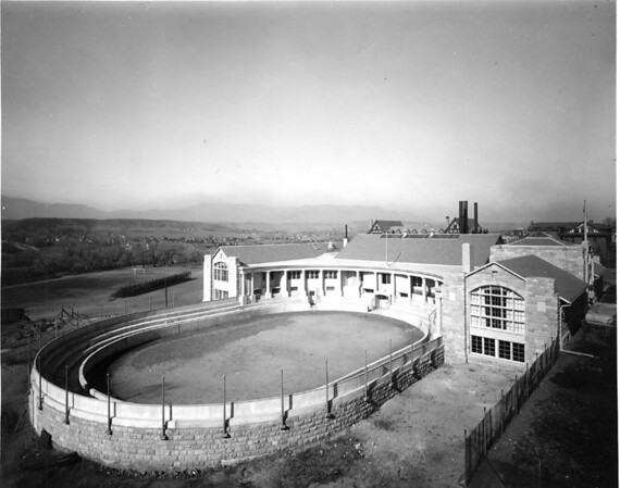 Cossitt Hall with Cossitt Bowl in foreground seen from the south (1914)
