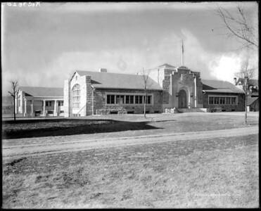 East-facing entry of Cossitt circa 1920s