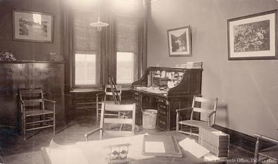 President Slocum's office, 2nd floor of Cutler hall, NE corner