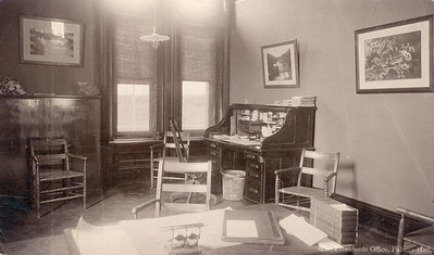President Slocum's office, 2nd floor of Cutler hall, NE corner